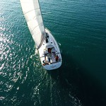 sailing yacht bavaria 46 stern cockpit sails deck thumbnail