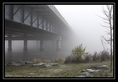 Day 329/365 Lost In The Fog (marfra2012) Tags: river riviredesprairies
