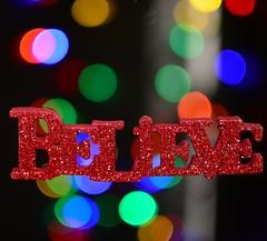 Believe! (Phyllis74) Tags: christmas red lights bokeh believe