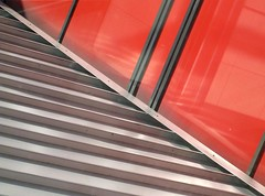 Half and Half (Explore) (G-daddyArt) Tags: atlanta roof red abstract airport d minimal siding minimalist concourse hartsfieldjackson