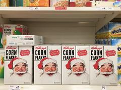 Corn Flakes, Norman Rockwell (Bahi P) Tags: fatherchristmas santaclaus sainsburys cornflakes normanrockwell iphone kellogs savacentre