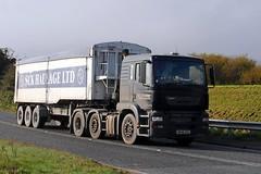 SCK Bulk Haulage ERF 25th October 2016 A614 Double Bridges (asdofdsa) Tags: hgv haulage transport trucks thorne eastcowick a614 erf