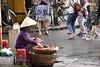 _DSC0634 (lnewman333) Tags: hoian vietnam centralvietnam sea southeastasia asia oldquarter woman vendor streetvendor hat conicalhat street food