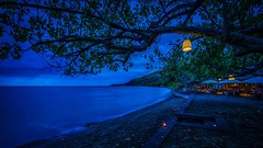 blue beach lights (Klaus Mokosch) Tags: bali indonesia indonesien asien asia nature beach bluehour night landscape ocean water sea