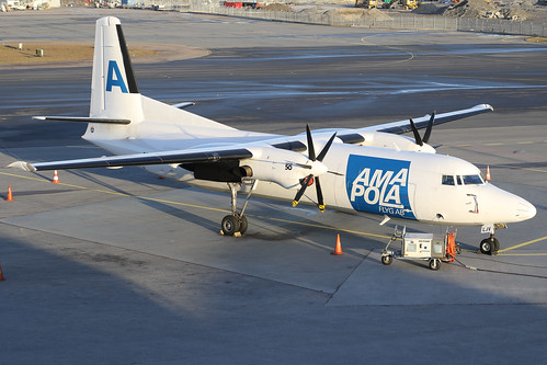 Amapola Flyg Fokker F-27-050 Freighter SE-LJV 161226 ARN