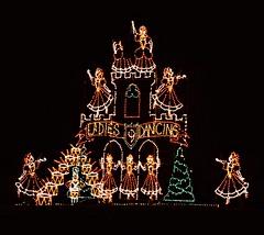 Nine Ladies Dancing 12 4 2016 (rbdal (Rick Dalrymple)) Tags: portlandinternationalraceway pir winterwonderland christmaslights christmasdisplay christmasdecorations december portland multnomahcounty oregon nikon d7000