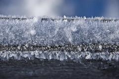 the devil is in the detail (wirsindfrei) Tags: explore inexplore explored schwarzwald badenwürttemberg macro detail nikond60 nikon ice blue fence schnee snow schwäbischealb rottweil klippeneck outdoor