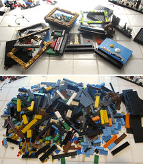 Framed microscales : before ... after (JETfri) Tags: lego microscale frame newyork london sidney paris beijing