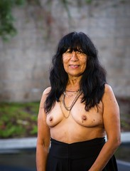 Mrs. Maria (mikejames24) Tags: horney sexy milf braless brunette mature topless nudest breast smalltits publicnude publicflashing baretits freckles housewife boobs outdoors 50 latina nipples