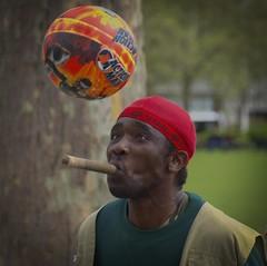Keeping an Eye on the Ball (Gord Hunter) Tags: england london streetscenes travel uk