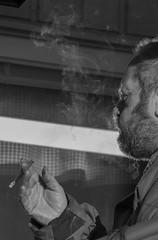 Bengt i Nässjö (FanFan Babii or just plain Buffan) Tags: streetphoto smoking paus morningsun smoke bw nässjö sweden
