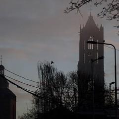 Utrecht awakening (Contra Dictio) Tags: domtower domtoren dom twilight ochtendschemer mist