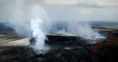 The Power of Goddess Pele (PeterCH51) Tags: hawaii bigisland kilauea volcano puʻuʻōʻō crater vent puuoo smoke aerialview scenery landscape pele peterch51 kilaueavolcano explored explore inexplore