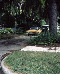 Driveway, Ann Arbor, MI (nikolaijan) Tags: plaubelmakina 67 fuji fujichrome rhp plaubel 120 film annarbor michigan midwest