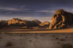 Rum Sunsets (K Michael F C) Tags: desert wadirum jordan cliffs canyon view beautiful scenery orange peaceful empty 3300 nikon middleeast arabia tourist trek hike hiking camping camp wild wilderness bedouin clouds longexposure