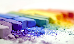 chalks (brescia, italy) (bloodybee) Tags: 365project chalk powder rainbow colors white stilllife macro