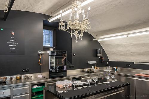 Küche im Schloss Schauenstein Restaurant