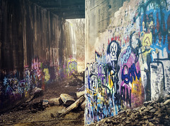 Depth (patkelley3) Tags: graffiti bridge tunnel color art concrete wall walls