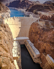 Hoover Dam (k.pat) Tags: hoover dam mike ocallaghan pat tillman memorial bridge colorado river nevada arizona wpa pano panorama hydro hydroelectric national historic works project landscape travel tour tribute visit kyle blaney kpat kpatrickblaney photography vistor center electric grid span cable lake mead aerial
