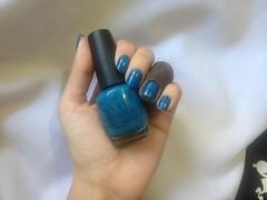 Desafio 1 Cor 10 Marcas 10 Acabamentos -Suzi Says Feng Shui (OPI) (Daniela nailwear) Tags: desafio1cor10marcas10acabamentos opi suzisaysfengshui cremoso azul esmalteimportado esmaltes mãofeita
