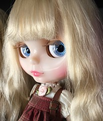 (dolly_billz) Tags: blue leather oregon portland eyes doll dream lips pale curly blonde translucent blythe dauphine babette