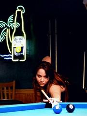 Bank Shot (Michel Curi) Tags: gente people retratos portraits catchycolors blueandblack chelseaseymour model randomredheads redheads women billiards pubs pool blue black felt cue stick azul preto prieto negro colours colors two eight corona beer lights signs neon neonsigns gameroom dunedin fl florida play stix stixbilliards stixdunedin mainstreet table pooltable mirror reflections eightball cornerpocket mujeres halls poolhalls sportsbar primetime flickrgroups freeassociation snapgame 2 8 abc123 continuity