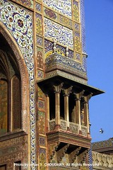 Emblishment on Wazir Khan Mosque, Lahore- Photo by Imran Y. CHOUDHRY