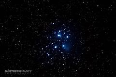 M45 Pleiades (Northern Images Photography) Tags: photography star aiden nikon long exposure open shot cluster images astro 45 m mount m45 28 messier northern 70200 tracking pleiades singe wellock skytracker astrometrydotnet:status=solved ioptron d7200 astrometrydotnet:id=nova1285906