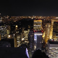 New York - View of Manhattan at night from the Top of Rock (Moro972) Tags: city nyc travel panorama usa ny newyork building skyline night skyscraper lights centralpark manhattan luci grattacielo palazzo notte 2015 topofrock