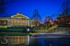 Milford City Hall and the Duck Pond falls 20 Nov (Singing With Light) Tags: bridge november autumn sunset fall reflections photography cool cityhall sony ct milford 20th 2015 mirrorless devonbridge sonykitlens sony16mm28 lowerduckpond singingwithlight singingwithlightphotography alpha6000 sonya6000 lightjj