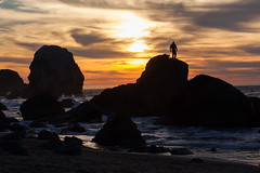 Mile Rock Beach Sunset (Tom Yamamoto) Tags: california sunset beach rock landscape san francisco end lands mile