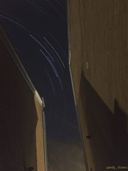 Between the houses (andystones64) Tags: sky night stars star evening long exposure view darkness image space trails astro trail single pro astronomy nightcap iphone lighttrail imagecapture imageof nlincs iphoneography iphone6 singlecapture iphoneastronomy