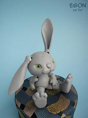 Egon the bunny (Estellanara) Tags: rabbit bunny doll homemade bjd lapin poupée