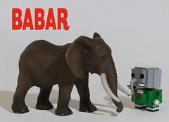 Babar et un lphant (totopremier) Tags: elephant lego babar blockhead