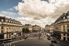 view from the Paris Opera House (-liyen-) Tags: paris view operahouseview city urban buildings cars traffic clouds france summer fujixt1 challengeyouwinner gamewinner perpetualchallengewinner cy2