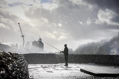 Fisherman - Brighton groyne_03 (a roving eye) Tags: sea beach pier fishing fisherman brighton wave groyne paulmansfield arovingeye