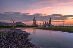Life Stream (KRW_GNS) Tags: life morning light chimney sun plant color tower industry water metal night creek sunrise thailand healthy twilight construction energy stream industrial factory technology tank power steel smoke tube pipe engineering steam gas equipment business reflect pollution chemistry oil production environment heavy distillery refinery pipeline engineer th fuel global chemical petroleum concern manufacturing petrochemical laemchabang changwatchonburi