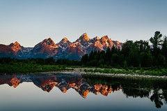Reflection (HikerDude24) Tags: mountains reflection sunrise landscape outdoors nationalpark nikon grand grandtetons tetons grandteton grandtetonnationalpark d5100