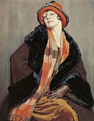 Une Australienne (Dorothy Richmond), 1926 // by  Hilda Rix Nicholas (mike catalonian) Tags: 1920s portrait female painting australia 1926 xxcentury threequarterslength hildarixnicholas