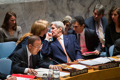 Secretary Kerry Speaks with Ambassador Power at the UN Security Council Meeting on Syria (U.S. Department of State) Tags: newyorkcity un unitednations syria johnkerry unsc bankimoon samathapower