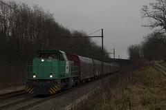 Une ex-SNCF sur un FRET ex-SNCF (Maxime Espinoza) Tags: evian fret sncf g1000 ain eaux g2000 61000 béon régiorail