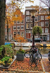 Canal Houses at Bloemgracht in the Jordaan, Amsterdam (PhotosToArtByMike) Tags: bloemgrachtcanal bloemgracht amsterdam jordaan netherlands picturesque canal flowercanal gabledhouses canalhouse canalring grachtengordel dutch holland
