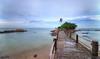 Turi Beach (Dec 2016) (Ken Goh thanks for 2 Million views) Tags: landscape turi beach batam sea sky water reflection bridge leading path pentax k1 sigma 1020 full frame