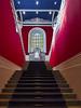 Smart vanishing point (Paco CT) Tags: zaragoza spain esp inside university architecture pacoct 2017 sculpture window universidaddezaragoza paraninfo red blue ramonycajal
