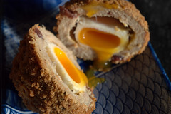 Turkey, Pork & Cranberry Runny Scotch Egg (Tony Worrall) Tags: add tag ©2016tonyworrall images photos photograff things uk england food foodie grub eat eaten taste tasty cook cooked iatethis foodporn foodpictures picturesoffood dish dishes menu plate plated made ingrediants nice flavour foodophile x yummy make tasted meal turkey porkcranberryrunnyscotchegg egg