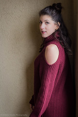 IMG_6093 (simonenicolephotography) Tags: maroon winter january texas colleyville north richland hills roots coffee house mug tea menu lady girl brunette amanda hazel brown eyes canon rebel t3i 50mm simone nicole photography stairs steps wool knit dress boots baby its cold outside outdoors