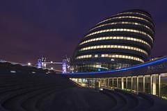 The Scoop (JH Images.co.uk) Tags: tower bridge scoop night purple sky towerbridge steps city hall mayor hdr dri architeture lights