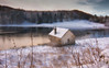 Loch Drumore (Katherine Fotheringham) Tags: loch drumore scotland perthshire snow fishing hut