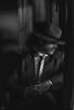 Train Noir (sengsta) Tags: bassendeanrailwaymuseum portraits ppg noir filmnoir 1940s maninsuit suit hat monochrome blackandwhite vintage