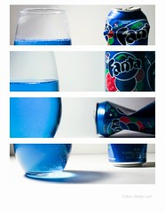 Fanta. (ShelbyLCollins) Tags: white background fanta advertising still life stillife setup blue soda good
